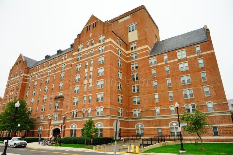 Kampusu budynek na uniwersytet georgetown zdjęcie royalty free
