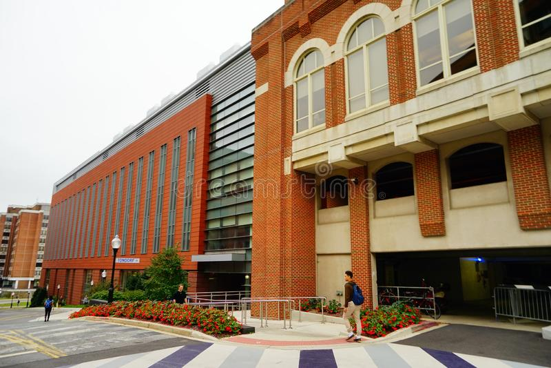 Kampusu budynek na uniwersytet georgetown obraz royalty free