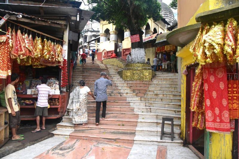 Kamrup Kamakhya tempel royaltyfria foton