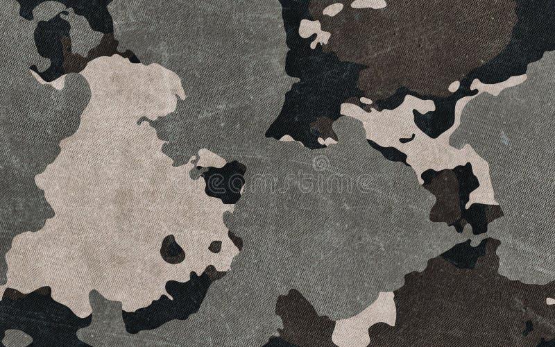 Kamuflaż deseniowa sukienna tekstura Tło i tekstura dla projekta royalty ilustracja