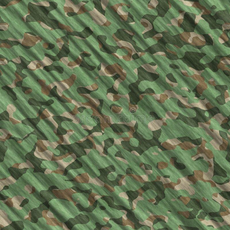 Kamuflażu deseniowego tła bezszwowa ilustracja Klasycznej odzieży camo powtórki stylowy maskuje druk Zielony brown czerń zdjęcia royalty free