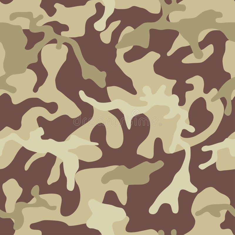 Kamuflażu deseniowy tło Bezszwowa militarna tekstura royalty ilustracja