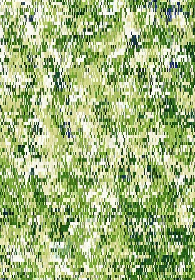 Kamuflażu wojska zieleni piksla abstrakta jaskrawy wzór ilustracji