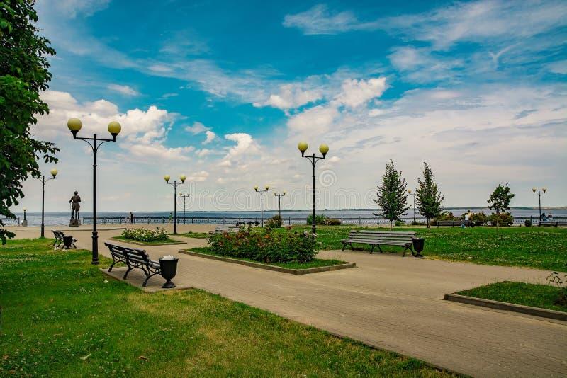 Kamyšin, parco sul lungomare immagine stock libera da diritti