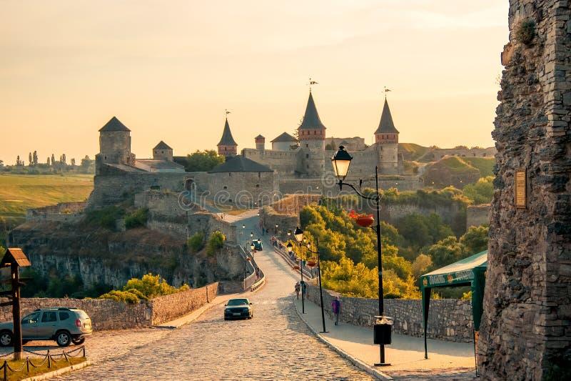 Kamyanets-Podilsky乌克兰 堡垒的夏天2015视图 图库摄影