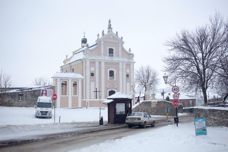 KAMYANETS-PODILSKY, ΟΥΚΡΑΝΊΑ - 5 ΙΑΝΟΥΑΡΊΟΥ 2019: Παλαιά πόλη το χειμώνα στοκ φωτογραφία