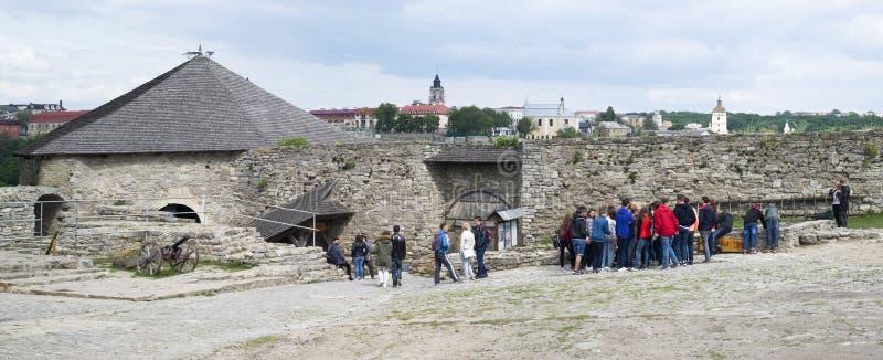 Kamyanets-Podilsky old town, Ukraine stock photo