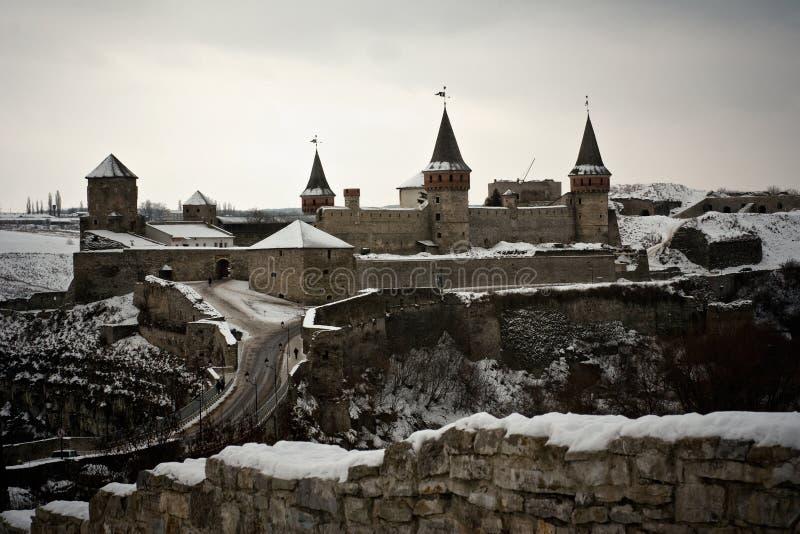 Kamyanets-Podilsky Schloss, Ukraine stockfotos