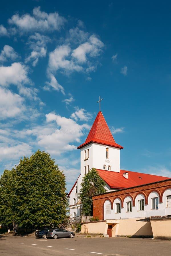 Kamyenyets Brest region, Vitryssland Kyrka för Sts Peter And Paul Roman Catholic royaltyfri fotografi