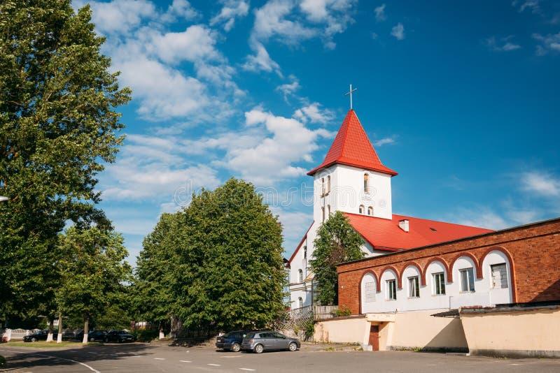 Kamyenyets, região de Bresta, Bielorrússia Igreja do Sts Peter And Paul Roman Catholic imagem de stock