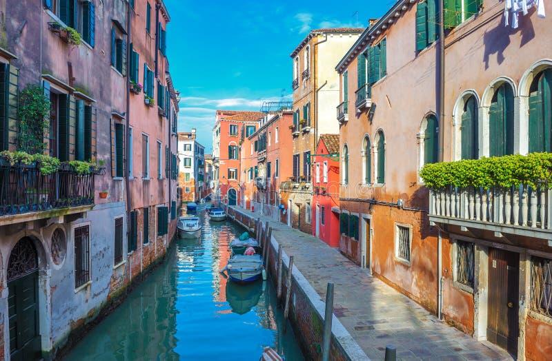 Kanäle von Venedig, Italien stockbild
