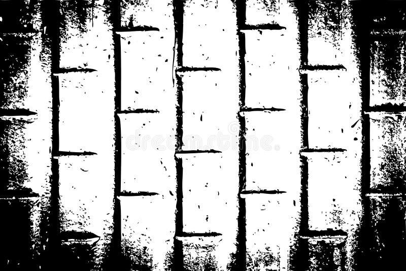 Kan als prentbriefkaar worden gebruikt Malplaatje van de Grunge het Zwart-witte Stedelijke Vectortextuur vector illustratie