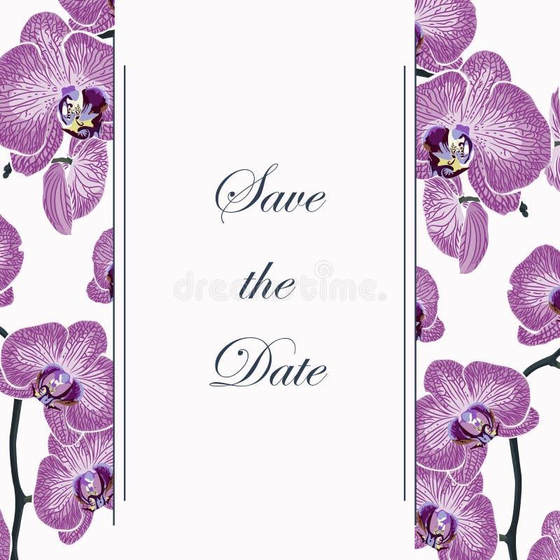Kan als uitnodigingskaart voor huwelijk, verjaardag en andere vakantie worden gebruikt royalty-vrije illustratie