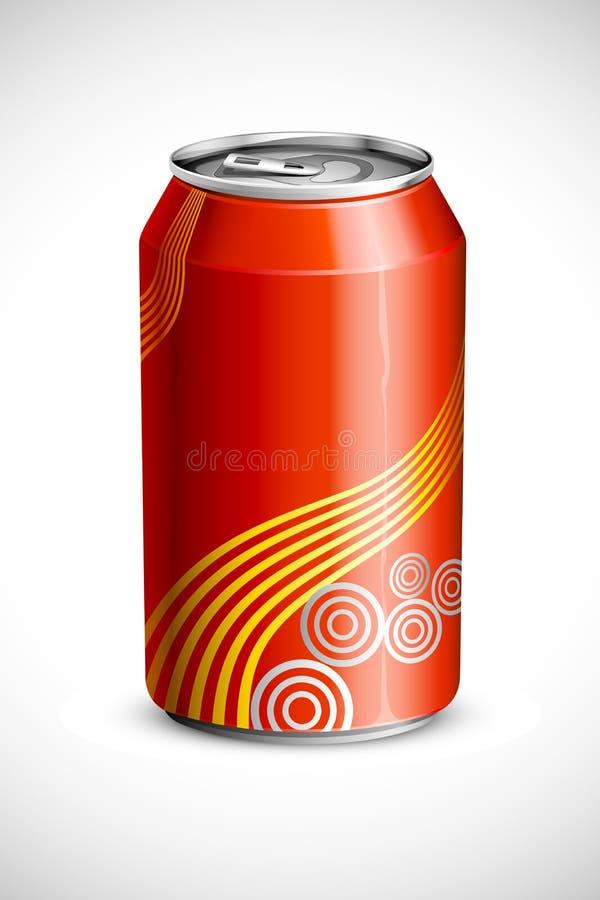 kan den kalla drinken vektor illustrationer