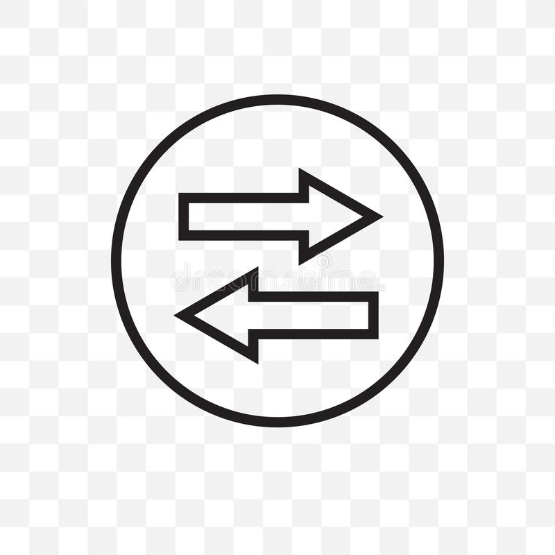 Kan den linjära symbolen för synkroniseringsvektorn som isoleras på genomskinlig bakgrund, synkroniseringsstordiabegrepp, använda stock illustrationer