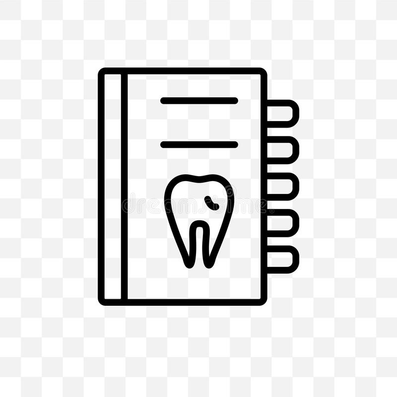 Kan den linjära symbolen för den vård- rapportvektorn som isoleras på genomskinlig bakgrund, det vård- rapportstordiabegreppet, a stock illustrationer