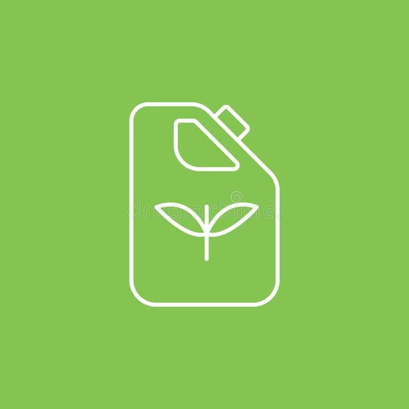 Kan, eco, installaties, flessenpictogram - Vector Eenvoudige elementenillustratie van UI-concept Kan, eco, installaties, flessenp royalty-vrije illustratie
