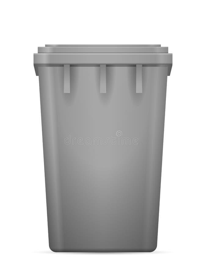 8 kan eps-illustrationen över avfallvektorwhite royaltyfri illustrationer