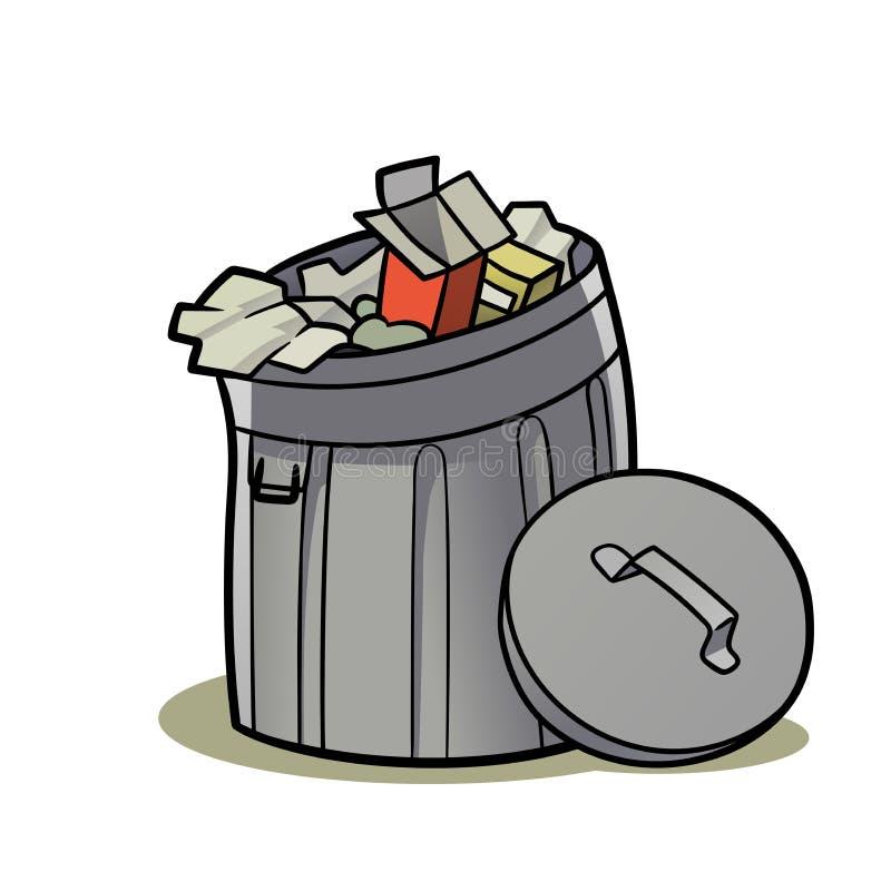 8 kan eps-illustrationen över avfallvektorwhite stock illustrationer