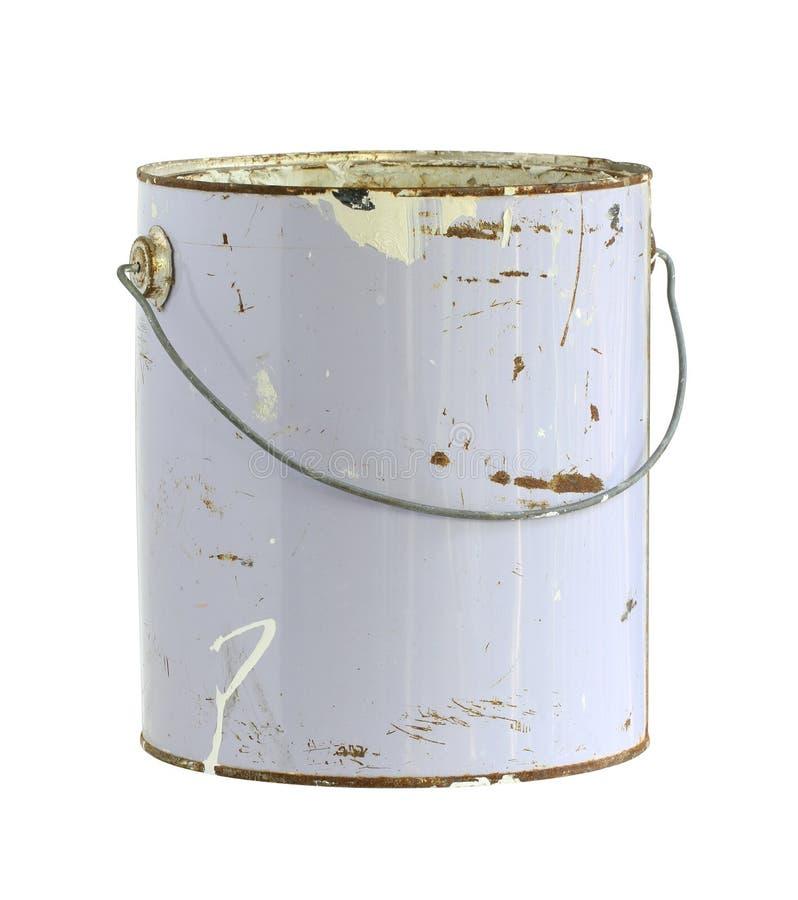 kan guld- målarfärg arkivbild