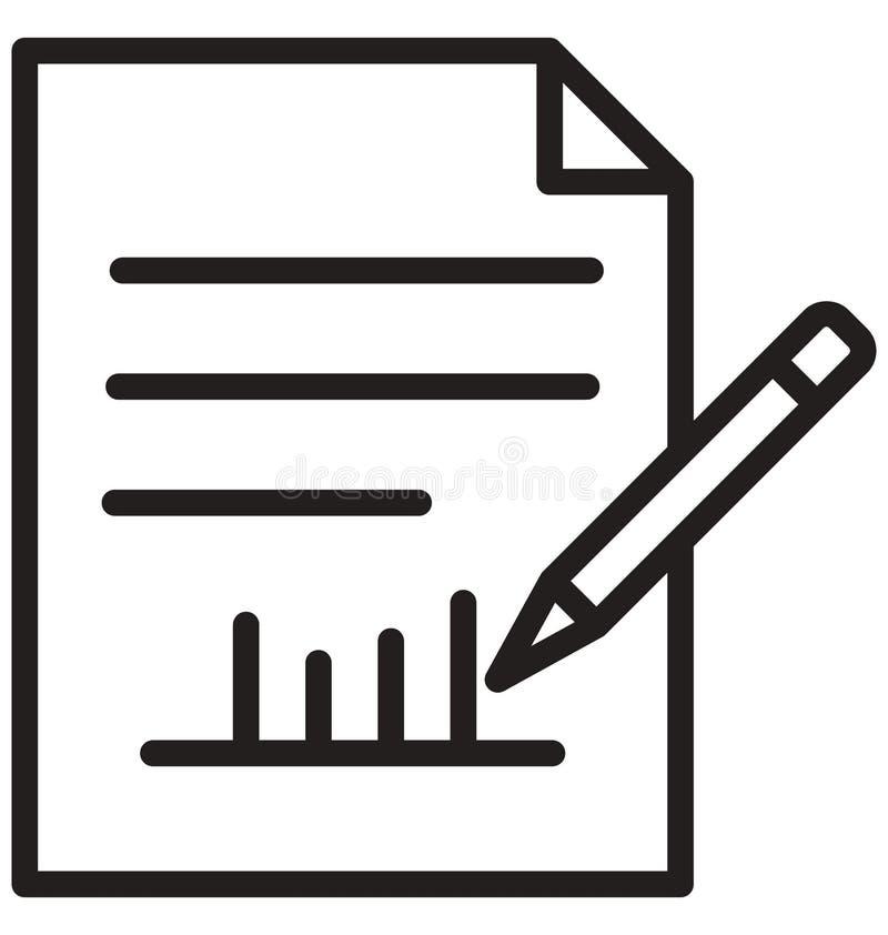Kan het correspondentielijn geïsoleerde pictogram gemakkelijk worden gewijzigd en uitgeven stock illustratie