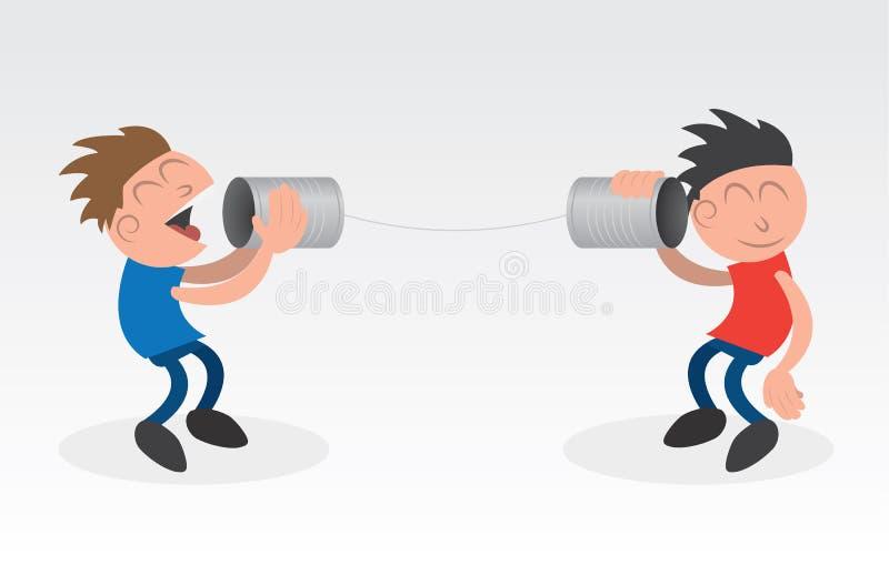 Kan het Gebruiken van Telefoons vector illustratie