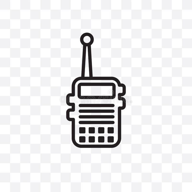 Kan het Militar Radio vector lineaire die pictogram op transparante achtergrond, Radio de transparantieconcept wordt geïsoleerd v vector illustratie