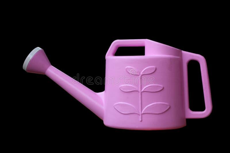 Kan het Prothong Plastic roze Water gevend royalty-vrije stock foto