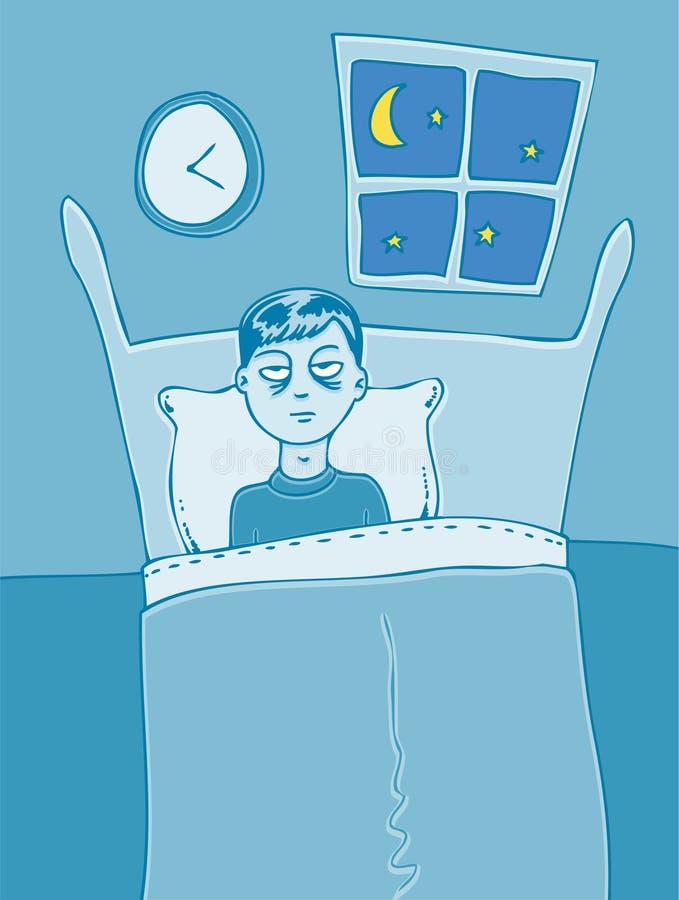 kan inte sova royaltyfri illustrationer