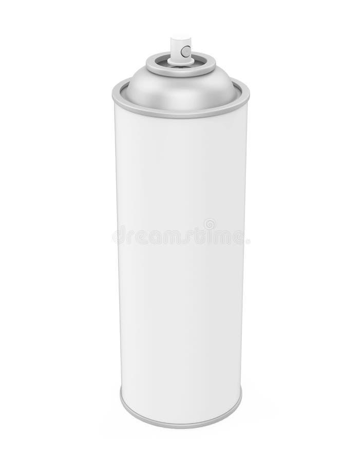 kan isolerad spray royaltyfri illustrationer