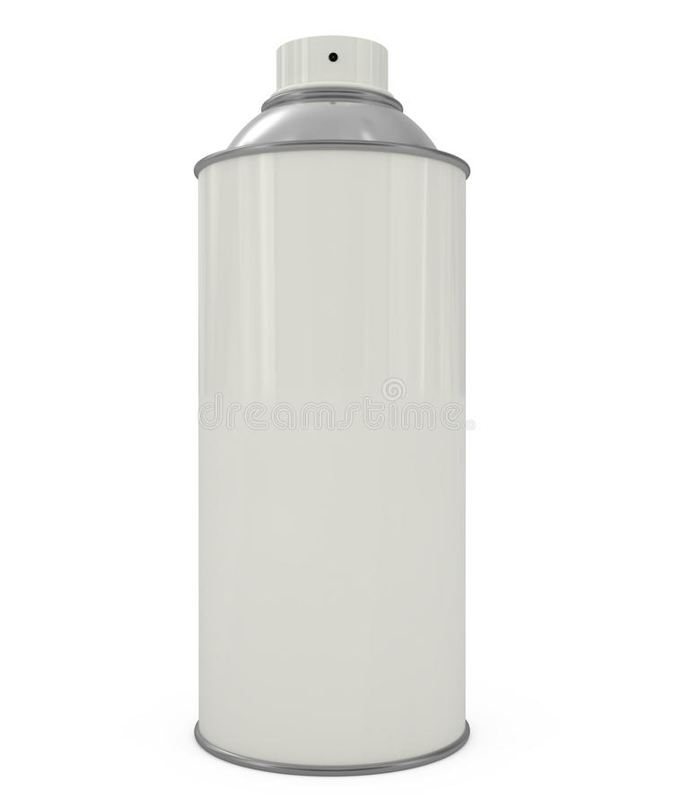 kan isolerad spraywhite vektor illustrationer
