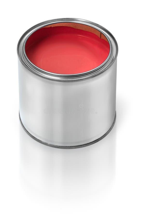 kan måla röd tin royaltyfri fotografi