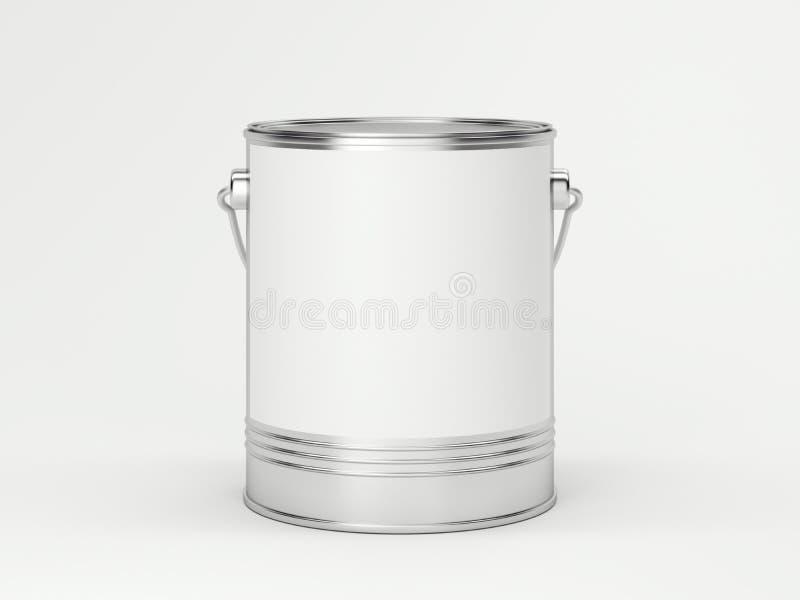 kan måla white framförande 3d vektor illustrationer