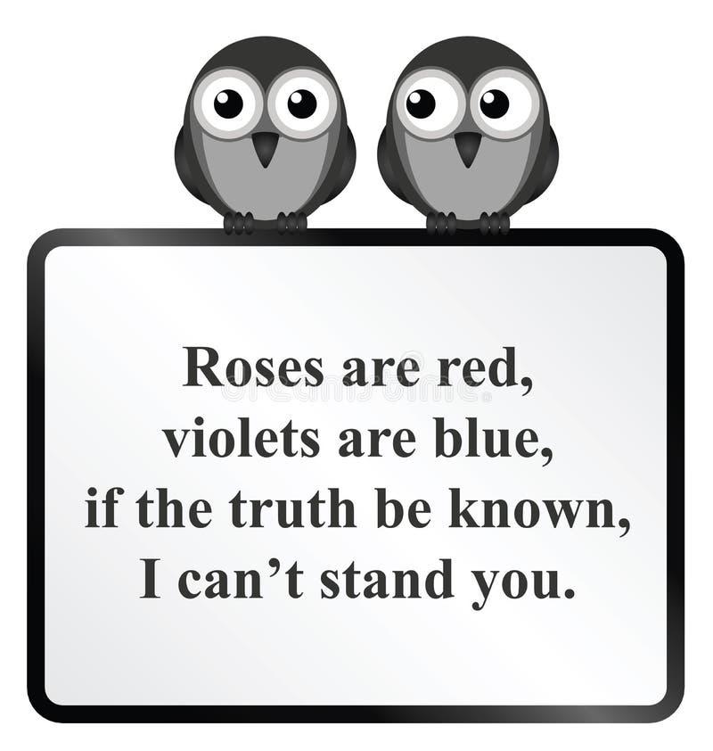 Kan me u bevinden niet Gedicht royalty-vrije illustratie