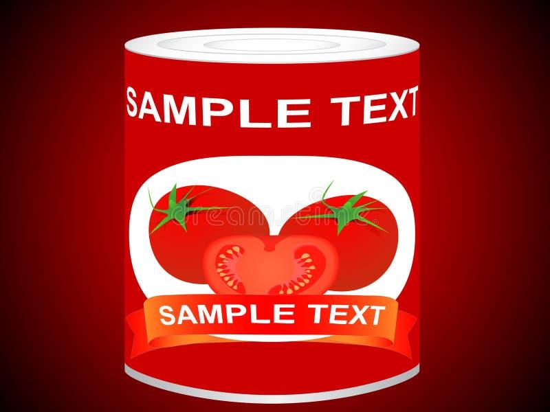 Kan met tomaten vector illustratie