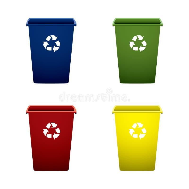 kan plast- återanvända avfall stock illustrationer