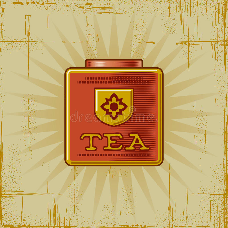 kan retro tea vektor illustrationer
