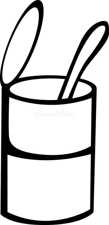 kan soupskeden vektor illustrationer