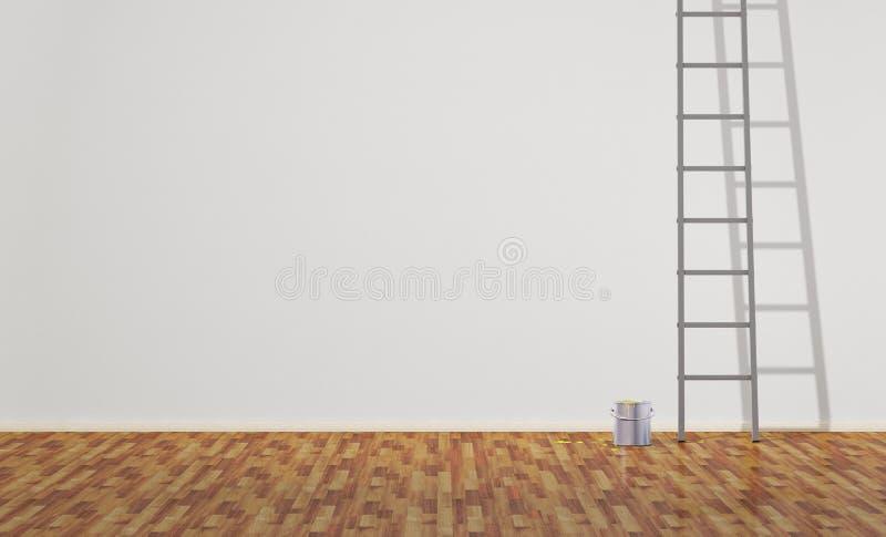 kan stegemålarfärg stock illustrationer