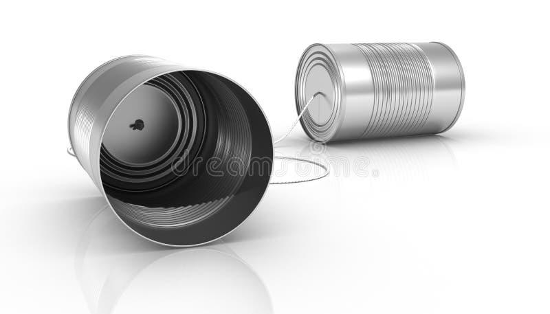 Kan telefoneren vector illustratie
