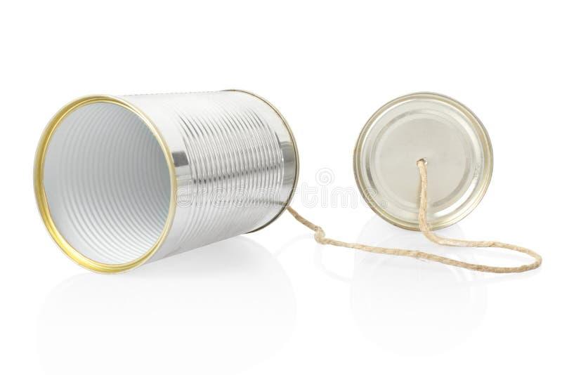 Kan telefoneren royalty-vrije stock afbeelding