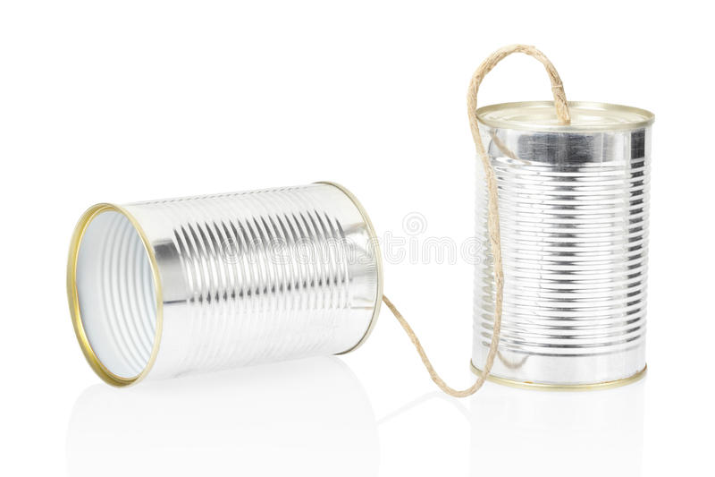 Kan telefoneren stock fotografie