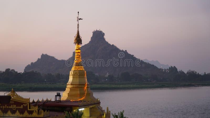 Kan Thar Yar góry i jeziora krajobrazy w Hpa-An,/ fotografia royalty free
