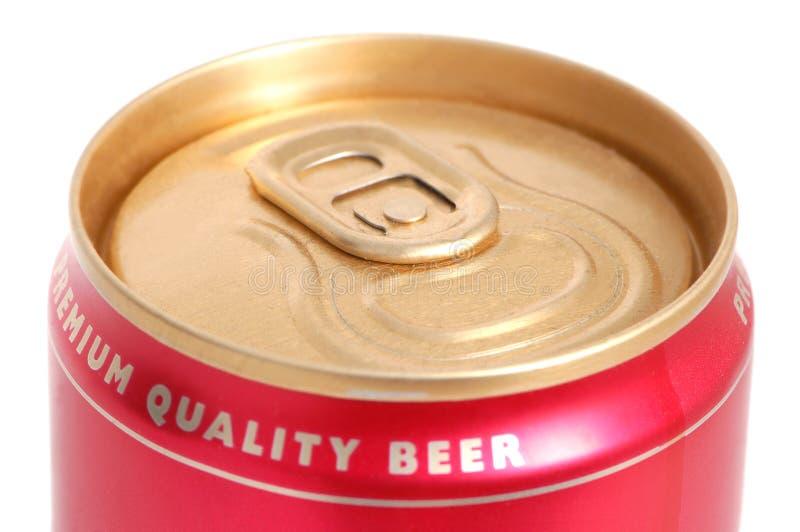 Kan van bier stock afbeelding