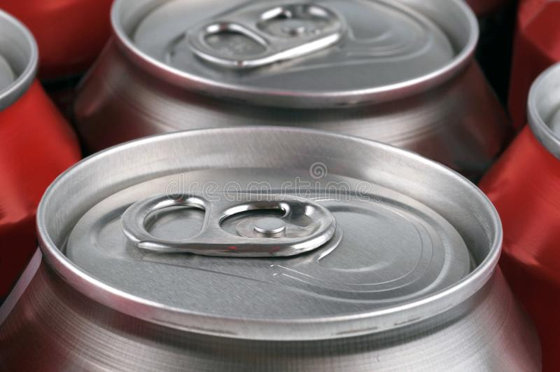 Kan van drank in dichte omhooggaand royalty-vrije stock foto's