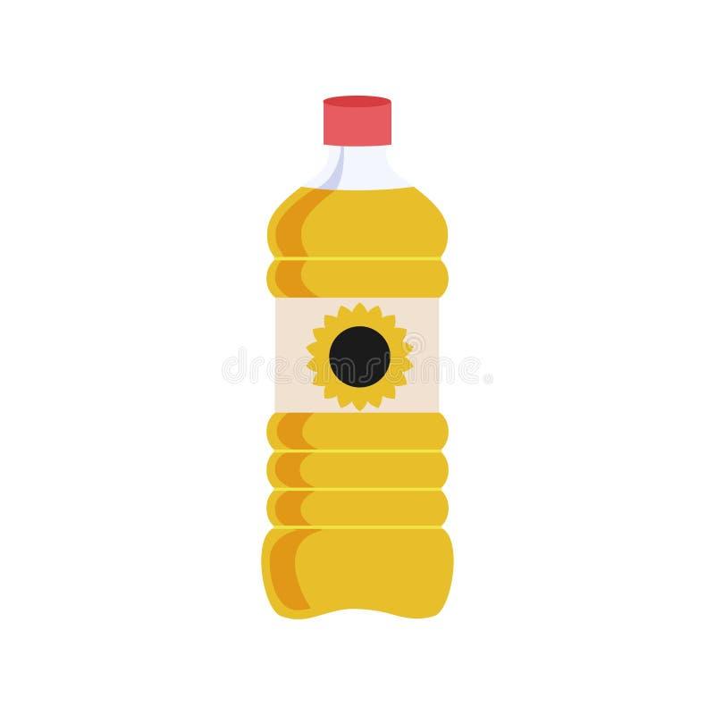 Kan van plantaardige olie voor het koken van maaltijd Geïsoleerdeo illustratie royalty-vrije illustratie