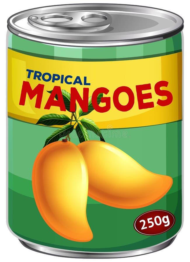 Kan van tropische mango's vector illustratie