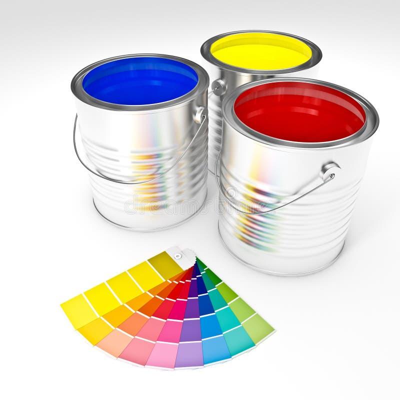 Kan verf kleuren vector illustratie