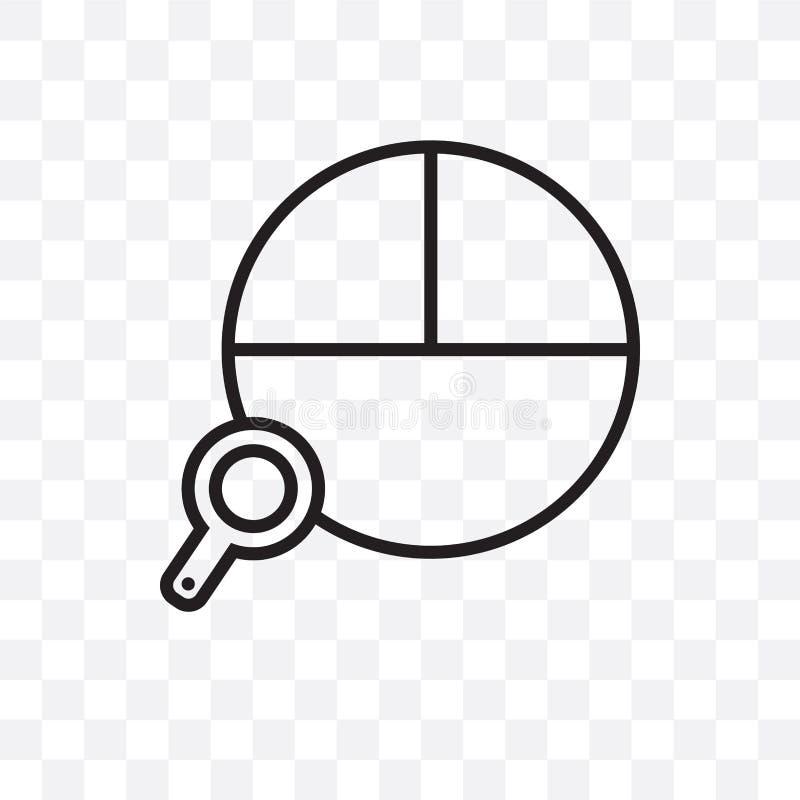 Kan wordt geïsoleerd het het cirkeldiagram vector lineaire die pictogram van de gegevensanalyse op transparante achtergrond, het  royalty-vrije illustratie