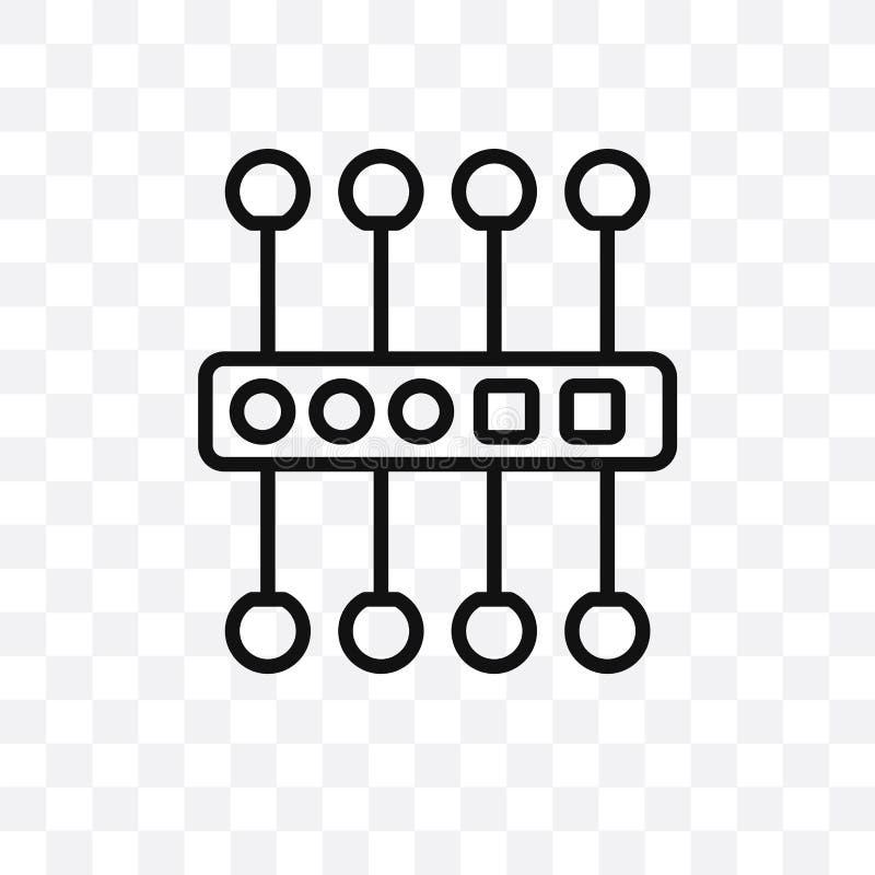 kan wordt geïsoleerd het proxyserver vector lineaire die pictogram op transparante achtergrond, het concept van de proxyservertra vector illustratie